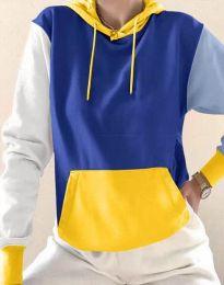 Kapucnis pulóver - kód 6269 - 7 - sokszínű