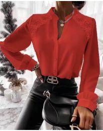 Кокетна дамска риза в червено - код 9902