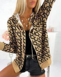 Kapucnis pulóver - kód 8195  - 1 - bézs