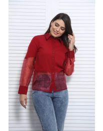 Дамска риза в бордо - код 0638