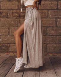 Дамска пола в сиво с цепка - код 8231