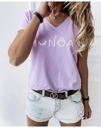 Póló - kód 822 - 1 - világos lila