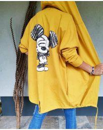 Kapucnis pulóver - kód 5017 - mustár
