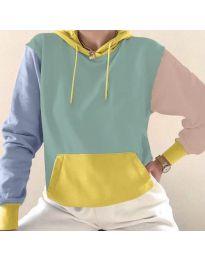 Kapucnis pulóver - kód 6269 - 5 - sokszínű