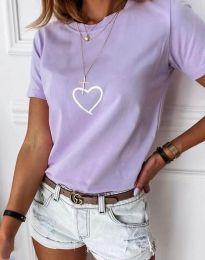 Póló - kód 3701 - világos lila
