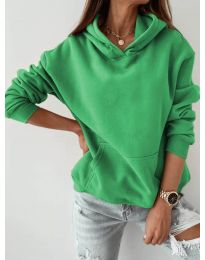 Kapucnis pulóver - kód 186 - zöld