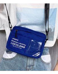 Дамска чанта в синьо спортен модел с дълга дръжка - код B28-822