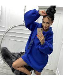 Kapucnis pulóver - kód 839 - kék ég