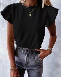 Дамска тениска в черно - код 6215