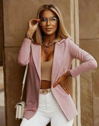Дамско ежедневно сако в розово - код 7951