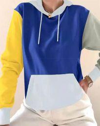 Kapucnis pulóver - kód 6299 - 9 - sokszínű