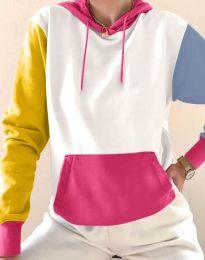 Kapucnis pulóver - kód 6269 - 1 - sokszínű