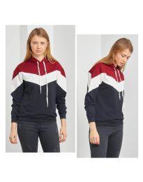 Kapucnis pulóver - kód 1532 - 1 - sokszínű