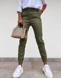 Дамски панталон в масленозелено - код 4464