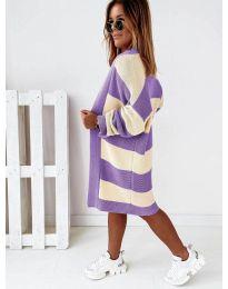 Kardigán - kód 0372 - lila színű