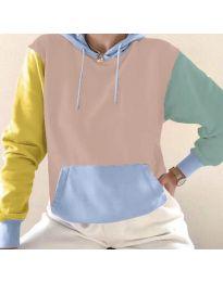Kapucnis pulóver - kód 6269 - 6 - sokszínű