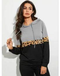 Kapucnis pulóver - kód 30322 - 1 - fekete