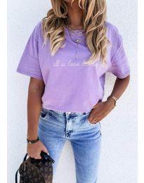 Póló - kód 36755 - lila színű
