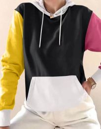Kapucnis pulóver - kód 6269 - 2 - sokszínű