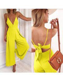 Elegáns női overál sárga színben - kód 720