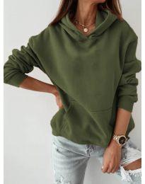Kapucnis pulóver - kód 186 - vaj zöld