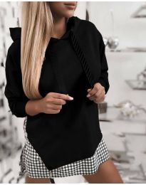Kapucnis pulóver - kód 4094 - fekete