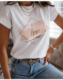 Póló - kód Тениска - код 3710 - бял - fehér