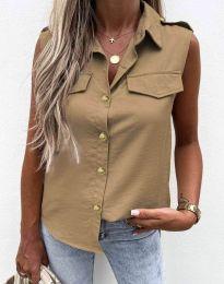 Дамска лятна риза цвят капучино - 6598