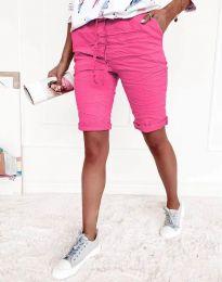 Къси панталонки в цвят циклама - код 8256