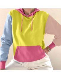 Kapucnis pulóver - kód 6269 - 3 - sokszínű
