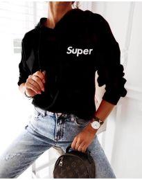 Kapucnis pulóver - kód 4400 - 1 - fekete