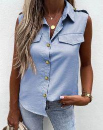 Дамска лятна риза в светлосиньо - 6598