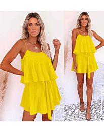 Свободна рокля в жълто - код 721